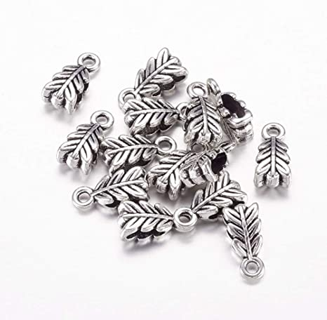 "3//8/""x 1//8/"" 100PCs Silver Plated Bail Beads 9mmx4mm"