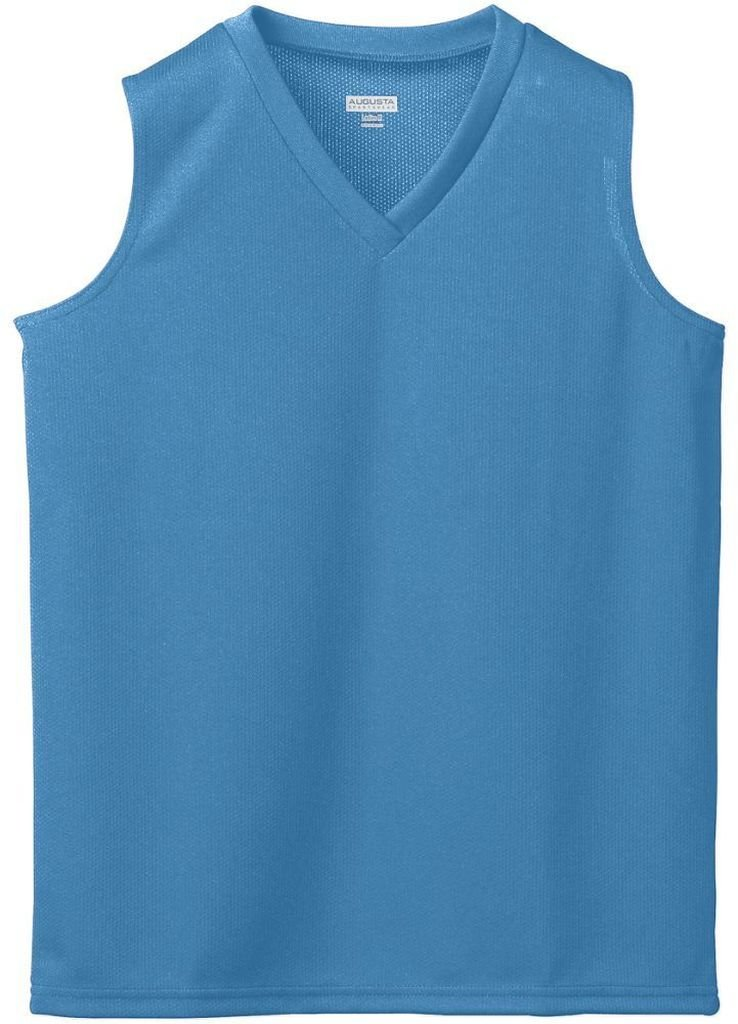Augusta Sportswear Girl 's Wickingメッシュノースリーブジャージー B003WXQ7DQ Large|ブルー(Columbia Blue) ブルー(Columbia Blue) Large