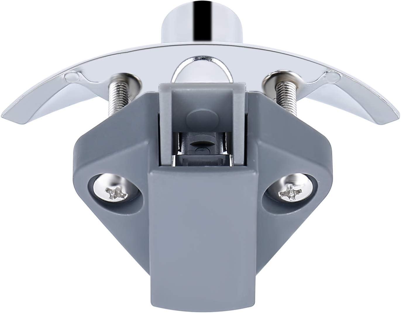 LESOLEIL 10 piezas Cerraduras de bot/ón de para la puerta del gabinete de los cajones para campistas N/íquel