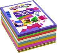 Colorations BRITESTK Bright Construction Paper Smart Pack Multicolor Variety Pack Classroom Supplies for Kids (Pack of 600)