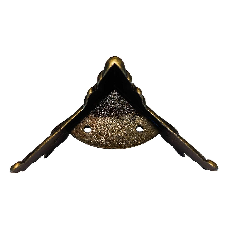 Größenwahl 4 Metall Füße Holzkiste Möbel Fuß Bein dekorativ Eckschutz bronze