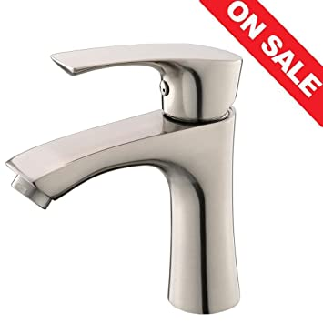 KINGO HOME Contemporary Stainless Steel Single Hole Lavatory Single Handle  Brushed Nickel Bathroom Faucet,Hot Part 64