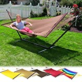 Sunnydaze Large 2 Person Rope Hammock with Spreader Bar - Soft-Spun Polyester - Multiple Colors Available