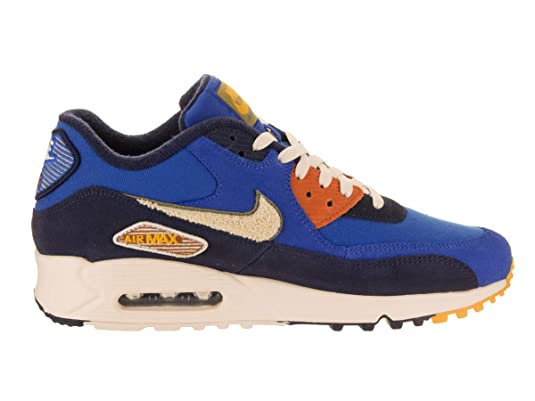 low cost 96a2a 1667e Amazon.com  Nike Mens Air Max 90 Premium SE Running Shoes, Game  RoyalLight Cream-Camper Green, 10  Road Running