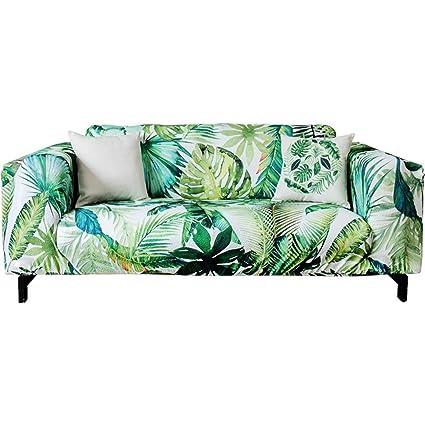 L&VE Elástico Imprimir Fundas de sofá, Planta de Conjunto Patrón de Bump Textura A Prueba