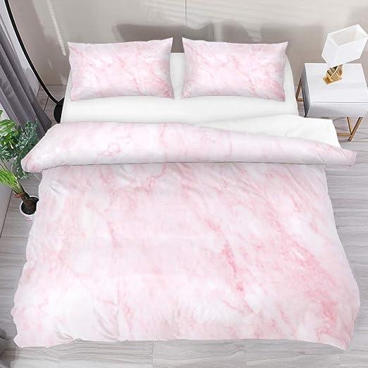 Amazon Com Pink Fresh Marble Duvet Cover Set Comforter Bedding