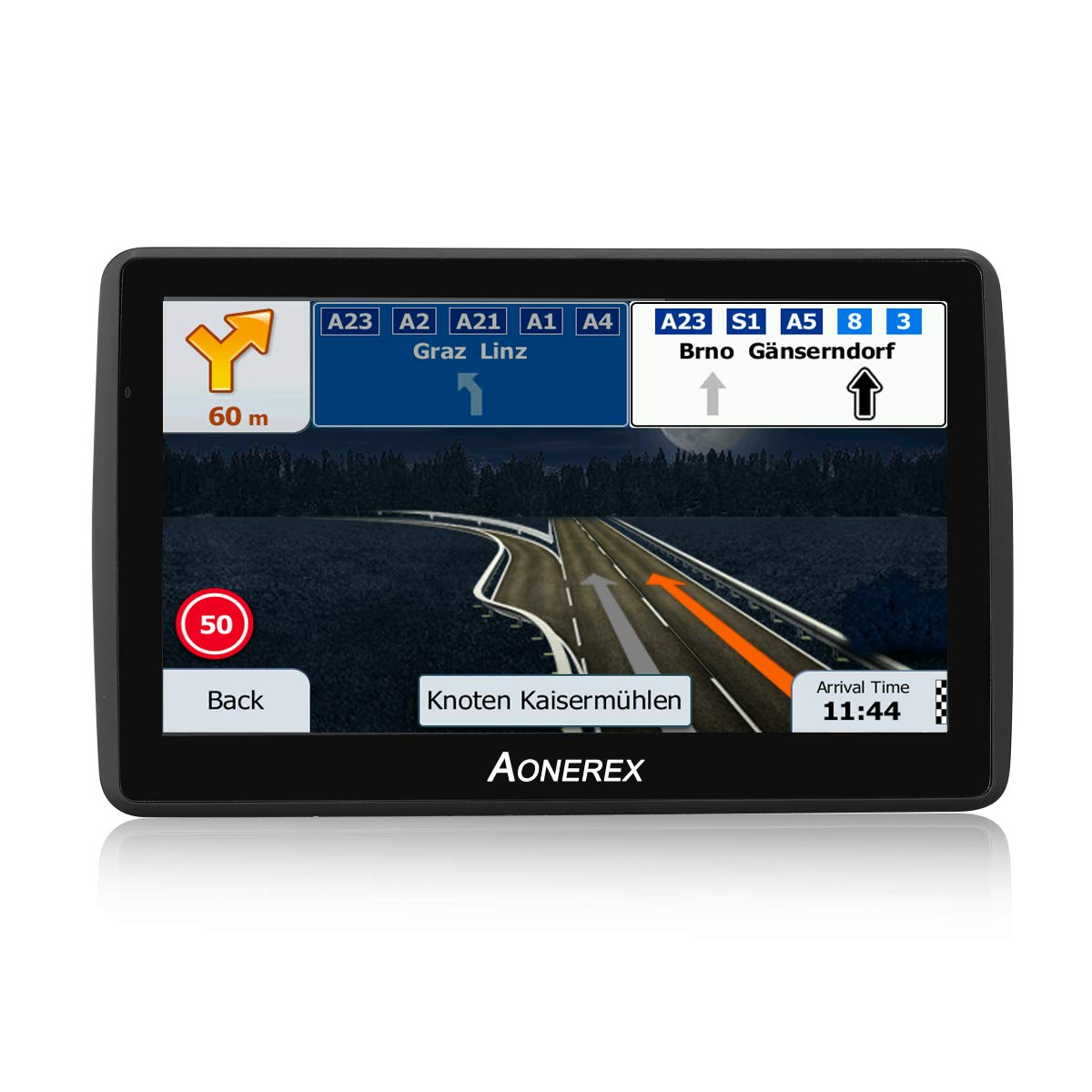 Aonerex GPS Navigation for car 7 inch Touch Screen +256MB 8GB Voice Prompt GPS Navigation System Built-in Lifetime Maps,Advanced Lane Guidance and Spoken Turn-by-Turn Directions by Aonerex (Image #2)