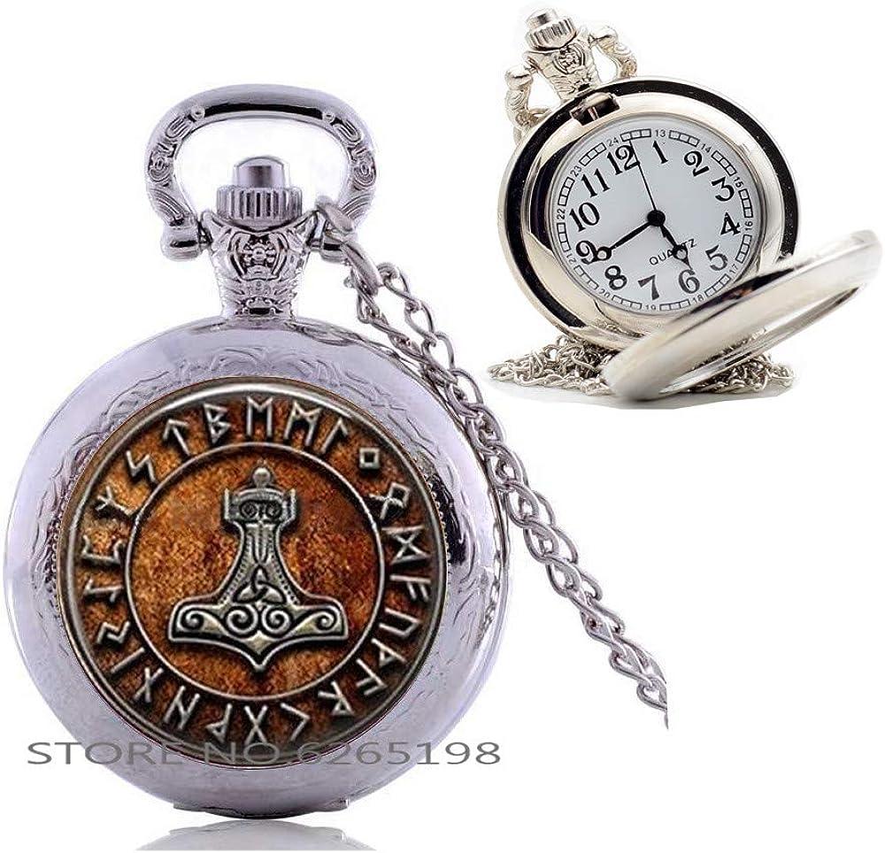 Amazon Com Odin Rune Pendant Rune Pocket Watch Necklace Celtic Jewelry Nordic Scandinavian Anglo Saxon Compass Rune Pocket Watch Necklace N236 Clothing