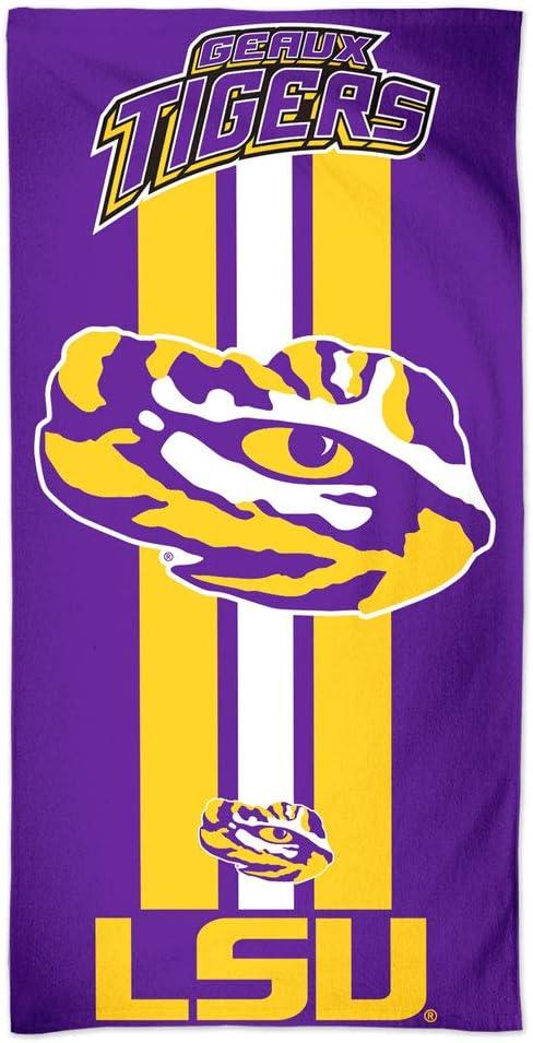 "WinCraft NCAA Louisiana State University A1860415 Fiber Beach Towel, 9 lb/30"" x 60"""