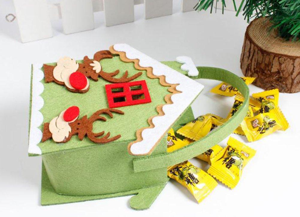 Leisial Sacchetto di Caramella del Sacchetto del Regalo di Natale del Fumetto Creativo Nuovo Sacchetto del Regalo della Caramella di Natale non Tessuto della Decorazione di Natale