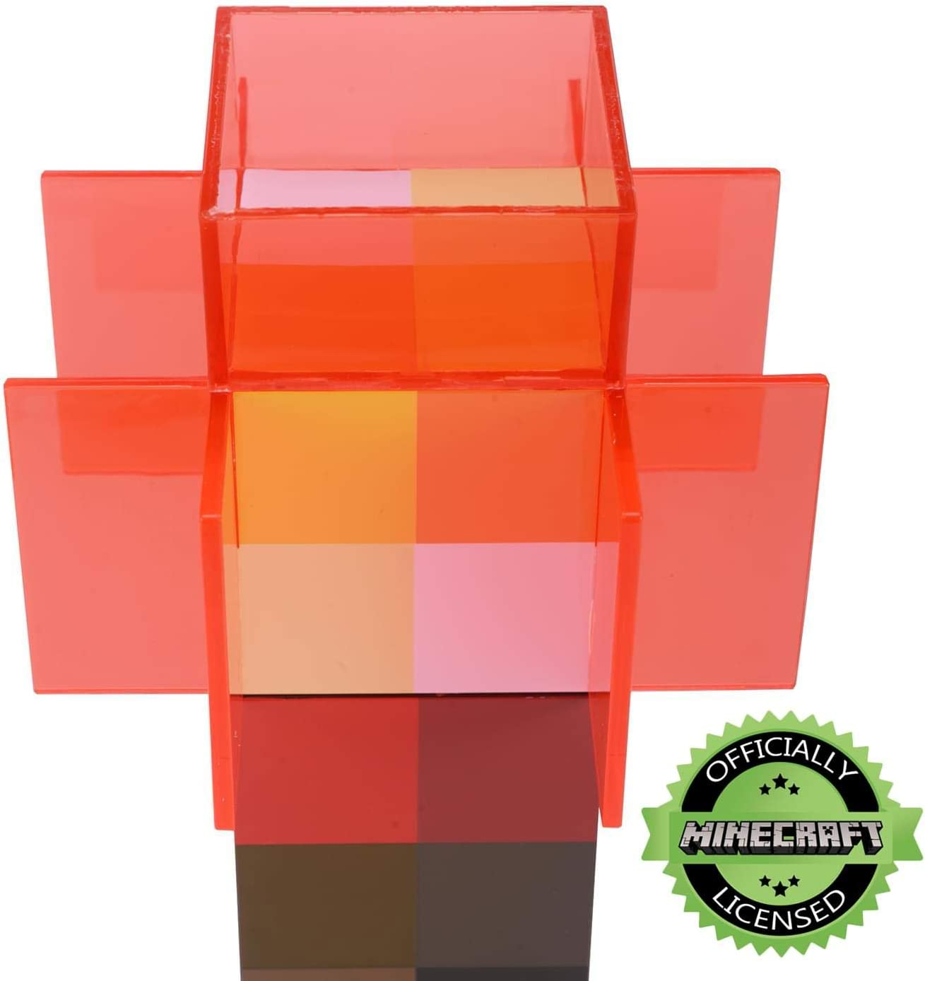 Minecraft Toys Redstone Torch 11.11 Inch LED Lamp  USB Rechargeable for  Nightlight, Costume Cosplay, Roleplay