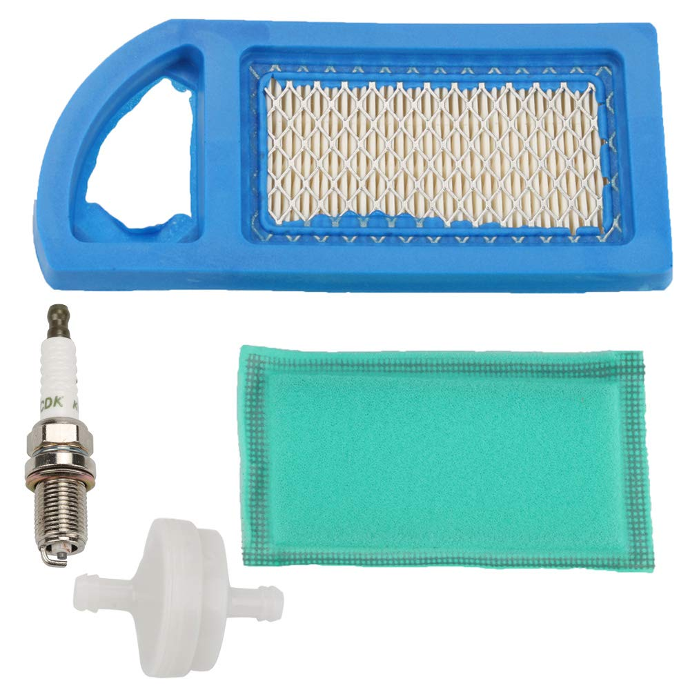 Harbot 794421 797007 698413 Air Filter + 697292 Pre-Filter for Briggs & Stratton 697775 697152 21A902 21A907 21A707 21A807 21A977 21A907 8-13.5 HP AVS Engines with Fuel Filter Spark Plug