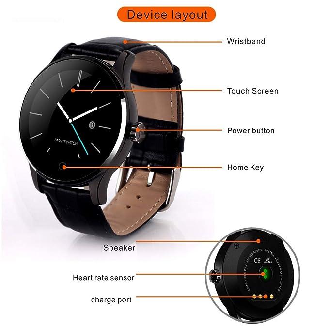 Amazon.com: Smart Watch,K88H Smartwatch Fitness Tracker ...