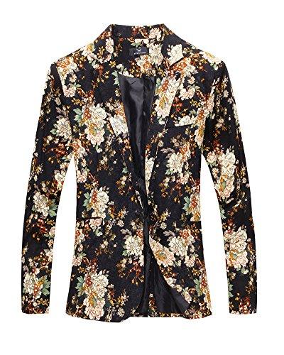 Manches Fashion Mariage Homme Formel Blazer Noir Coat Longues Tailleur Veste D'affaire Jacket Slim Costume wWq50WCa