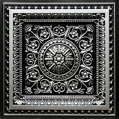 La Scala-Faux Tin Ceiling Tile - Antique Silver 25-Pack by Decoraids
