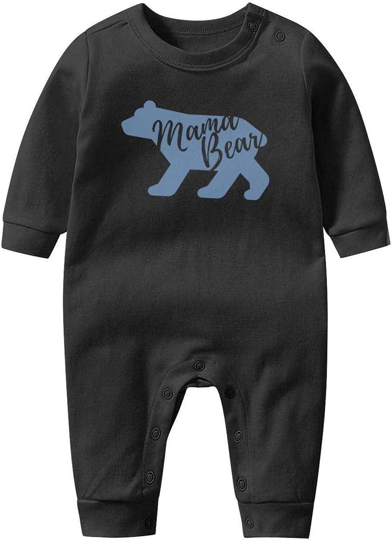 GFJHBVNBVC Maine Black Bear Skeleton Trendy Baby Crawling Suit Lone-Sleeved Romper Bodysuit