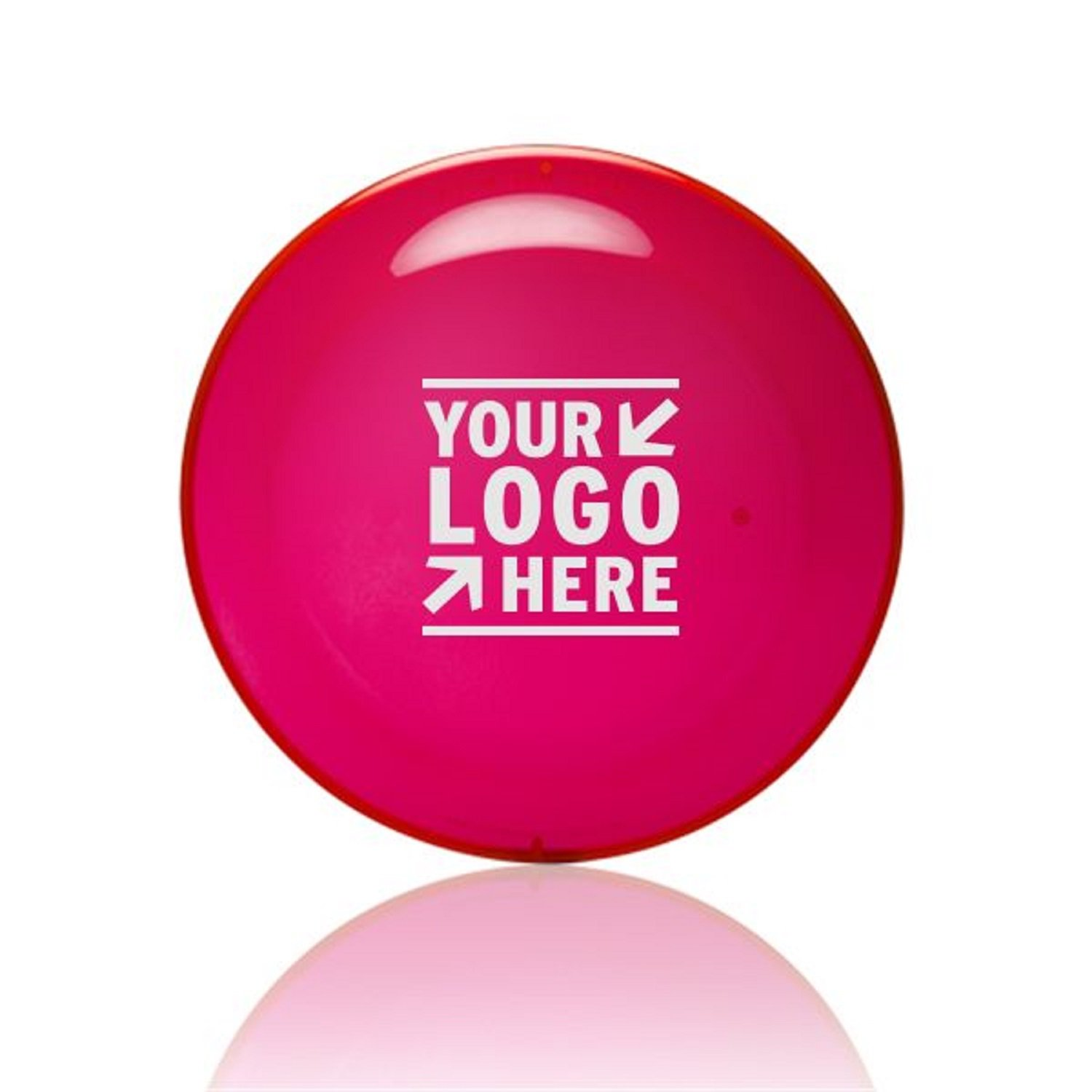 50 Custom Printed USA Made, Frisbee 9″ Translucent Color Flying Disc with your Logo or Message