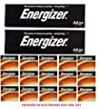 "Energizer AA Max Alkaline E91 LR6 1.5V Batteries ""In Original Box"" 60 Pack + Free Gift!"