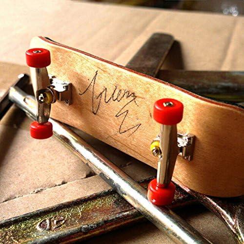AumoToo Mini-Griffbrett Professionelle Finger Skateboard Ahorn Holz DIY Montage Skateboarding Spielzeug Sport Spiele Kinder Dunkelblau