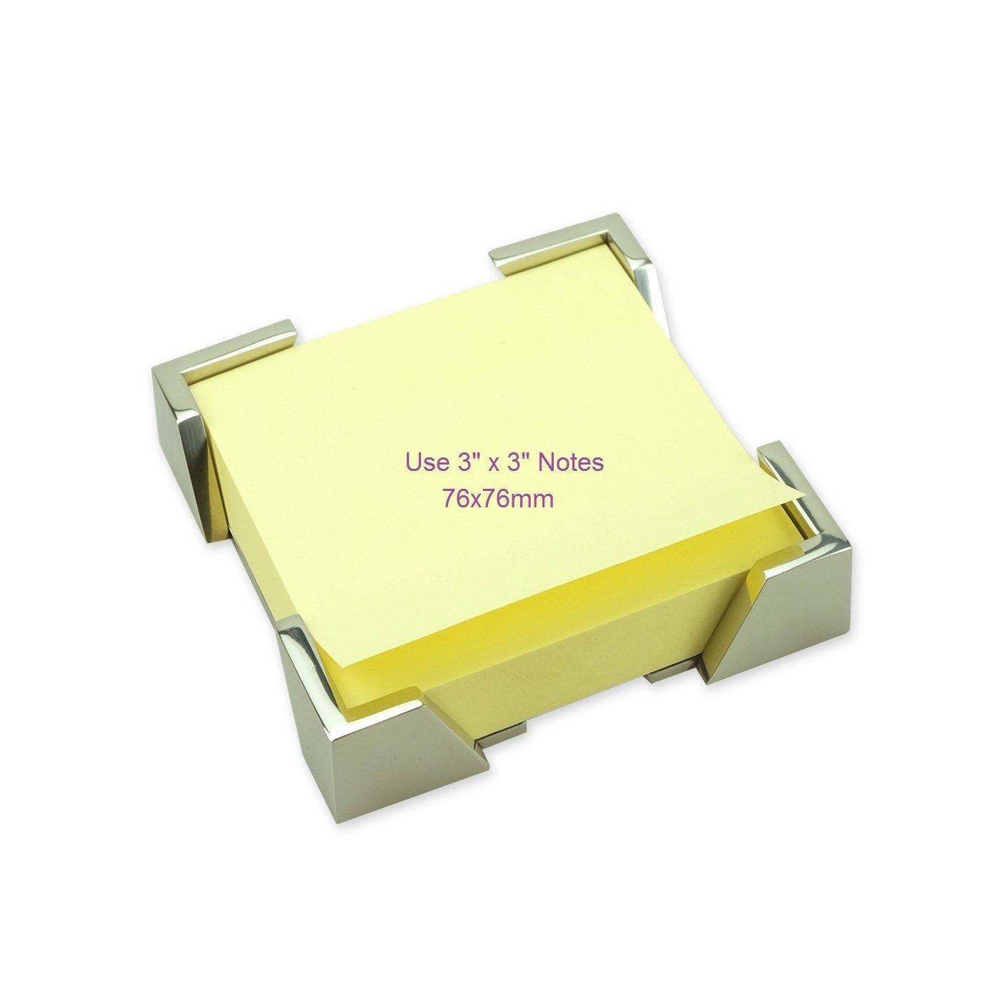 ArtsOnDesk Arte Moderno Notas Adhesivas Titular Mr109 Acero Inoxidable espejo pulido Dispensador de Notas Adhesivas Bueno para la Nota de Post Organizador ...