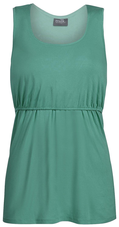 Milk Nursingwear Essential授乳タンクトップ B075KLFW2Y M|グリーン グリーン M