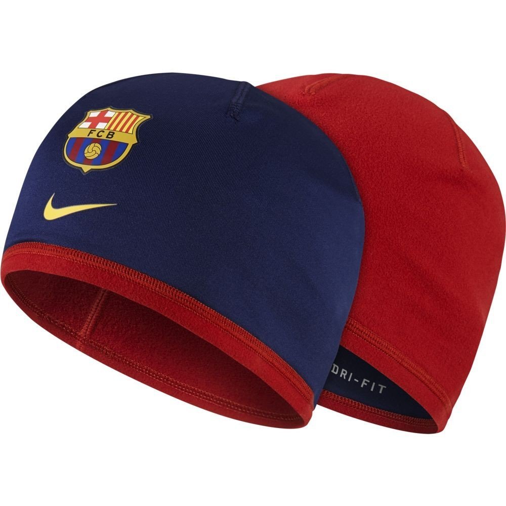 2015-2016 Barcelona Nike Reversible Beanie (Navy-Red) B0152WBZS6Red One Size