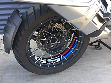Uniracing 46844 Kit de decoración Llantas para BMW R1200GS 14-18 y R1250GS Adventure