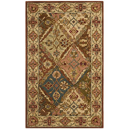 Safavieh Heritage Collection HG316A Handcrafted Traditional Oriental Beige Wool Area Rug (4' x - Furniture Butler Heritage Collection