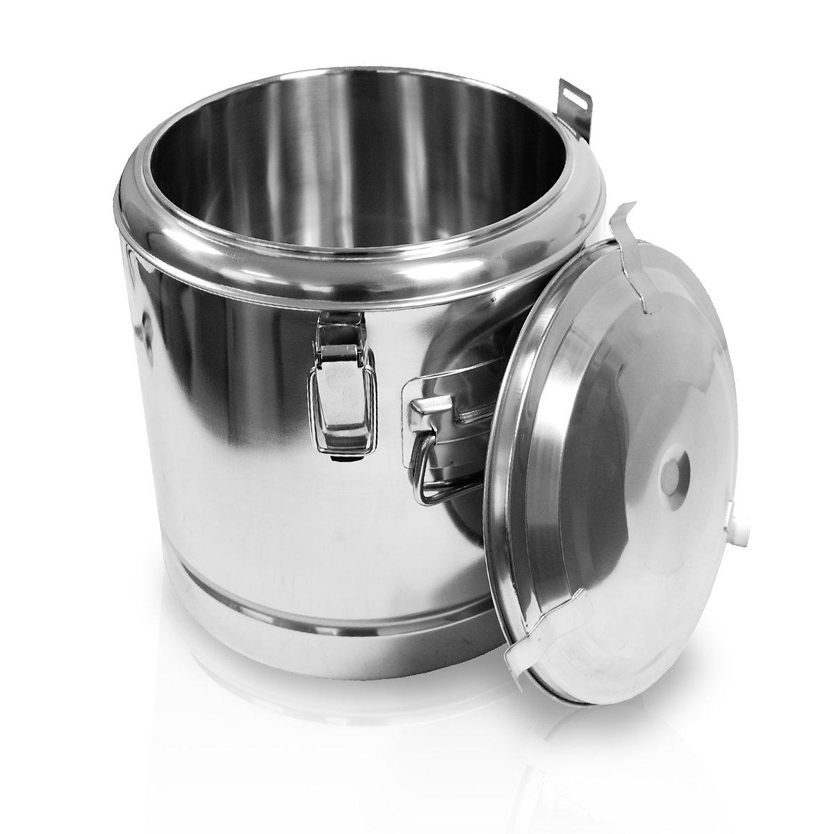 Edelstahl Speisewarmhaltebehälter 45x50 cm 60 Liter mit Deckel