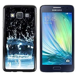 TopCaseStore / la caja del caucho duro de la cubierta de protección de la piel - Water Effect Splash - Samsung Galaxy A3 SM-A300