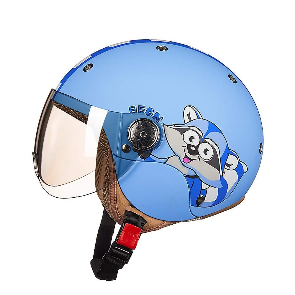 スケートボードのバイクBMXとスタントスクーターのための理想的な子供都市スケートヘルメットオレンジピンクイエローブルー年齢ガイド3-8歳男の子/女の子(52-54cm) (Color : Blue)   B07Q3D78NK