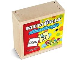 Carlu Brinquedos - Alfabetização Jogo da Memória 40 Peças, 3+ Anos, Multicor, 1038