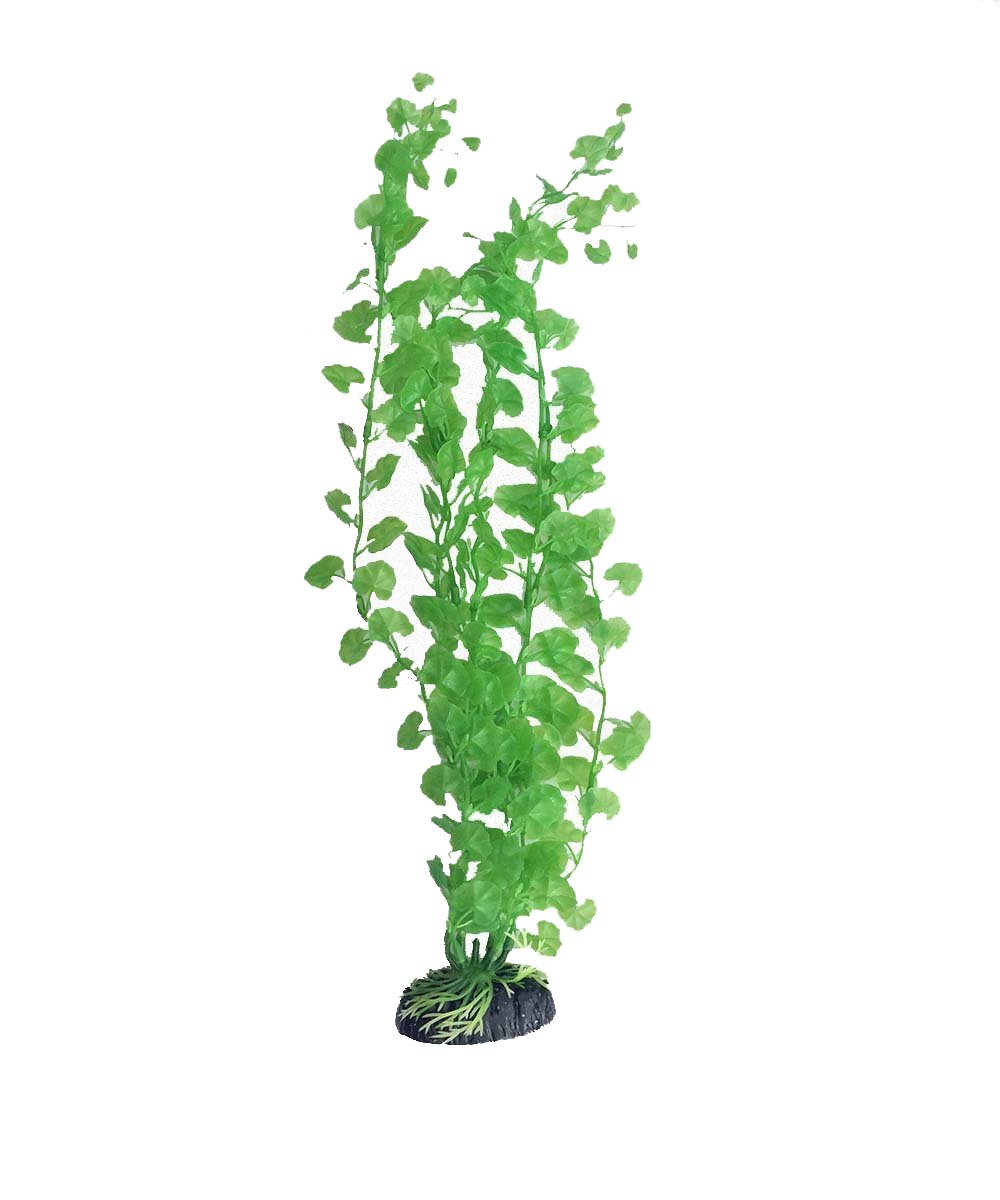 10 inch Cardamine Artificial Plant for Tropical Fish Aquariums & Terrariums. Great for Angel Fish & Tetras