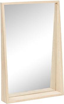 Hubsch Ablagen Spiegel Wandspiegel Eiche Natur 60 X 90 Cm 880313