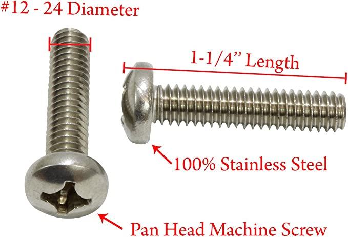 Zinc Plated Finish 1//4 Length #8-18 Thread Size Type 25 Pan Head Phillips Drive Pack of 100 Steel Thread Cutting Screw