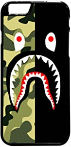 Bape Shark Green Camo And Black iPhone 6 Pus/6s Plus Case (Black Plastic)