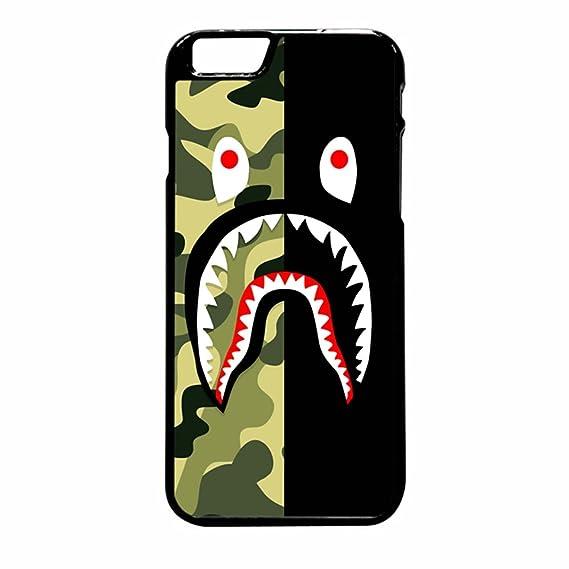 sports shoes 9f9bd 3fa03 Bape Shark Green Camo And Black iPhone 6 Pus/6s Plus Case (Black Plastic)