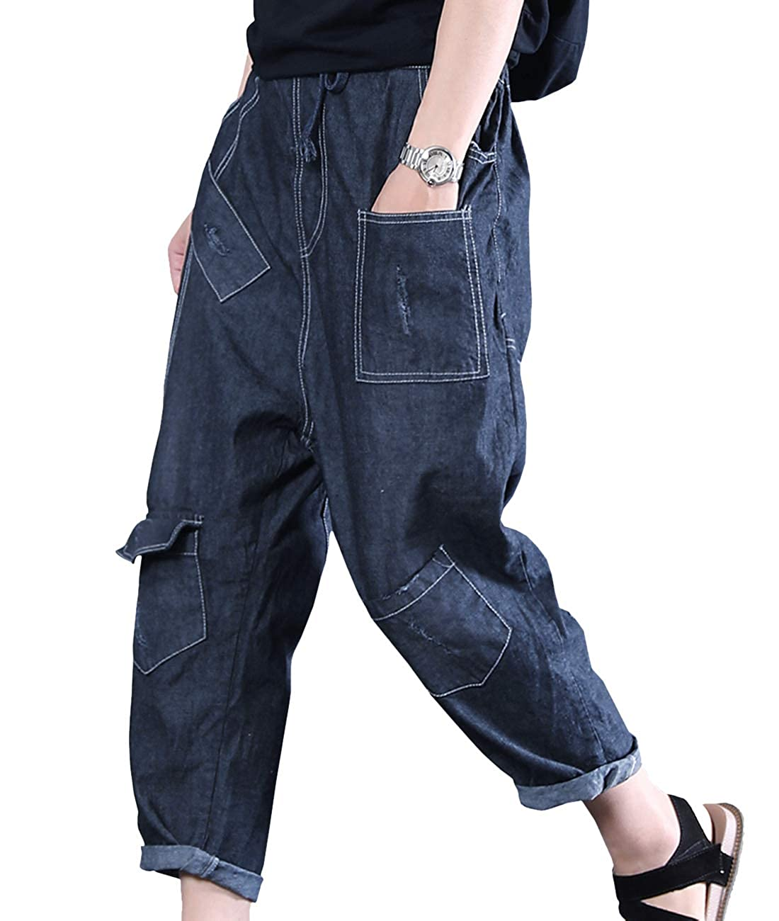 718ed63ccc Features for PN2: Elastic Waist; Low Crotch; Distressed; Stitched; Slit on  Both Cuff; Features for PY1: Elastic with Drawstring; Colorful Painting; ...