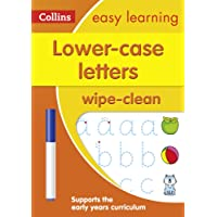 Lower Case Letters Age 3-5 Wipe Clean Activity Book