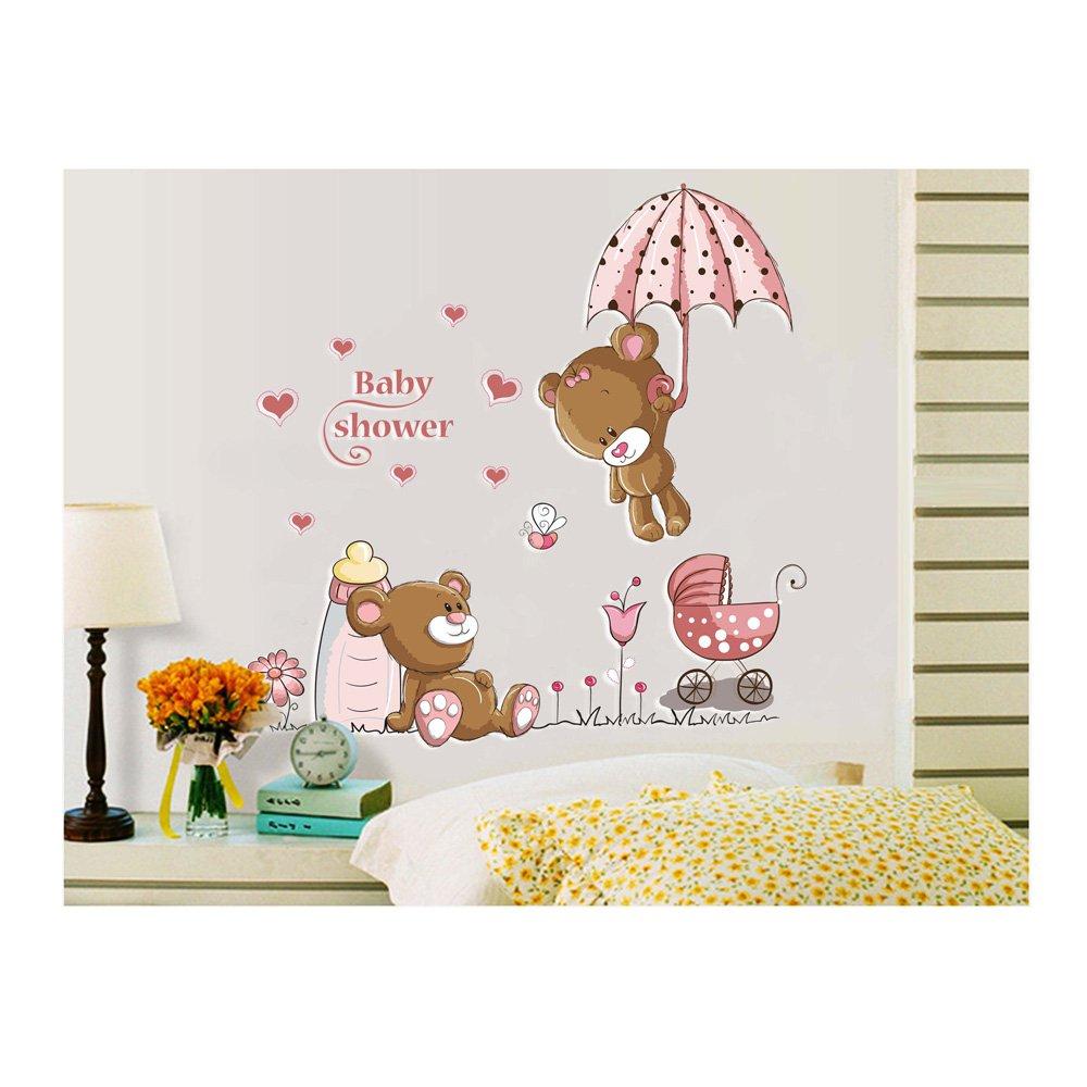 Alta calidad de Vinilo pegatinas DIY de Vinilo habitaciones paredes/murales/dodoskinz/del fondo marino/unidades para niños dormitorios/guarderías 2 de osos ...