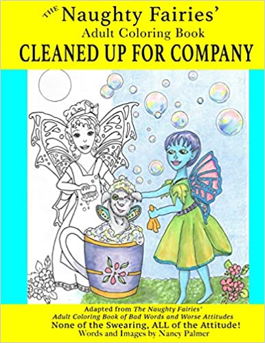 Amazon The Naughty Fairies Adult Coloring Book Cleaned Up For