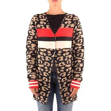 promo code 81554 5ba94 Guess Damen Mantel Mehrfarbig Leopard, Mehrfarbig L: Amazon ...