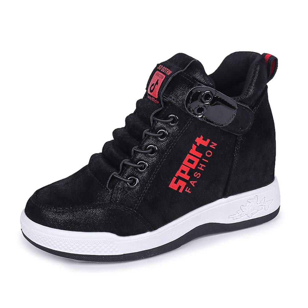 Schuhe frauen 2018 sping herbst atmungsaktiv casual schuhe lace-up damenmode erhöhen schuhe frau flache turnschuhe (Farbe   EIN Größe   35)