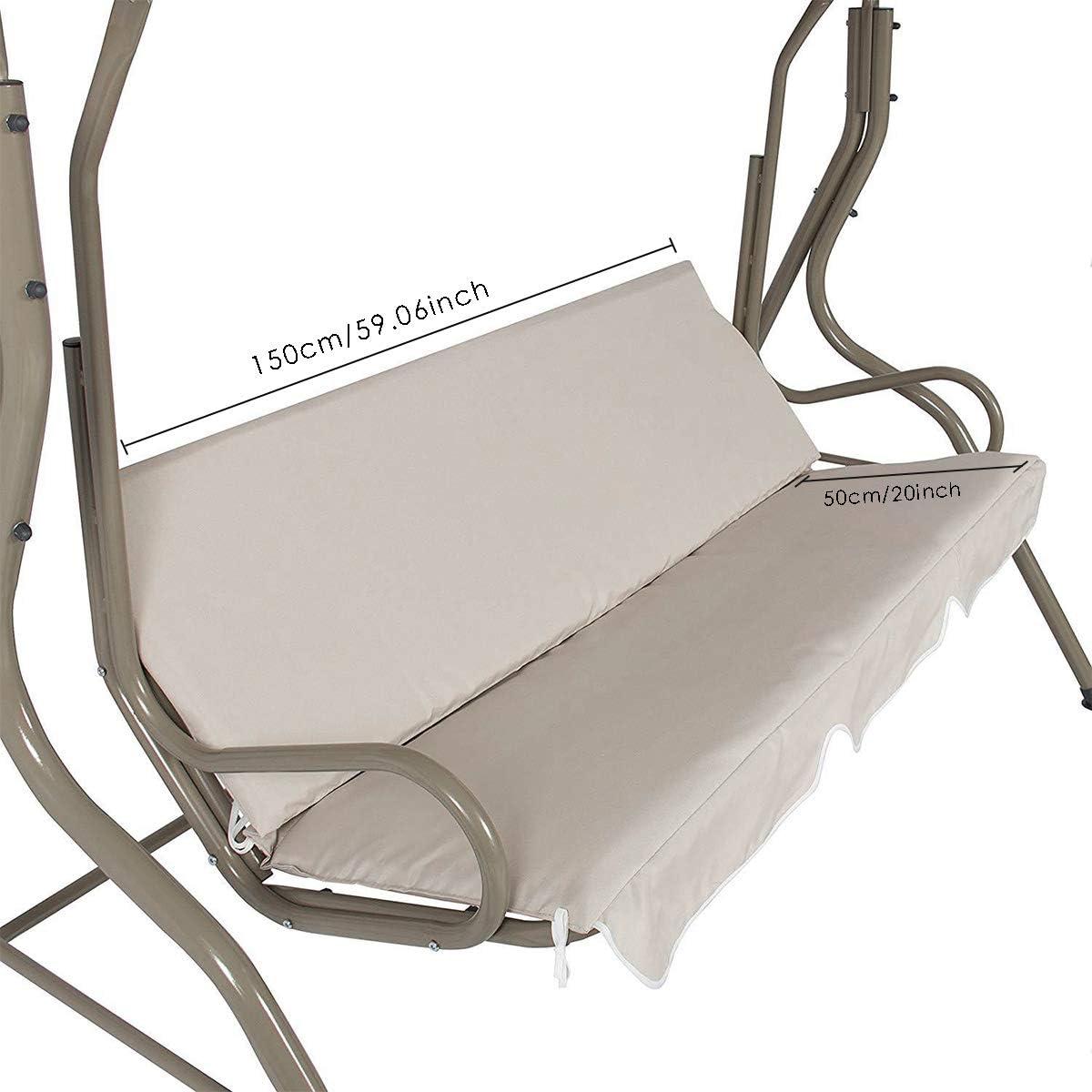Qinhum Conjunto de Cubierta de Columpio para Patio Cubierta Superior de Dosel Impermeable para Columpio Y Cubierta de Asiento de Columpio para Columpio de Patio para Jard/ín