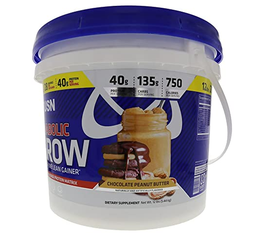 Amazon.com: USN Supplements Anabolic Grow All in One Lean Gainer, Chocolate Peanut Butter, 12 Pound: Health & Personal Care