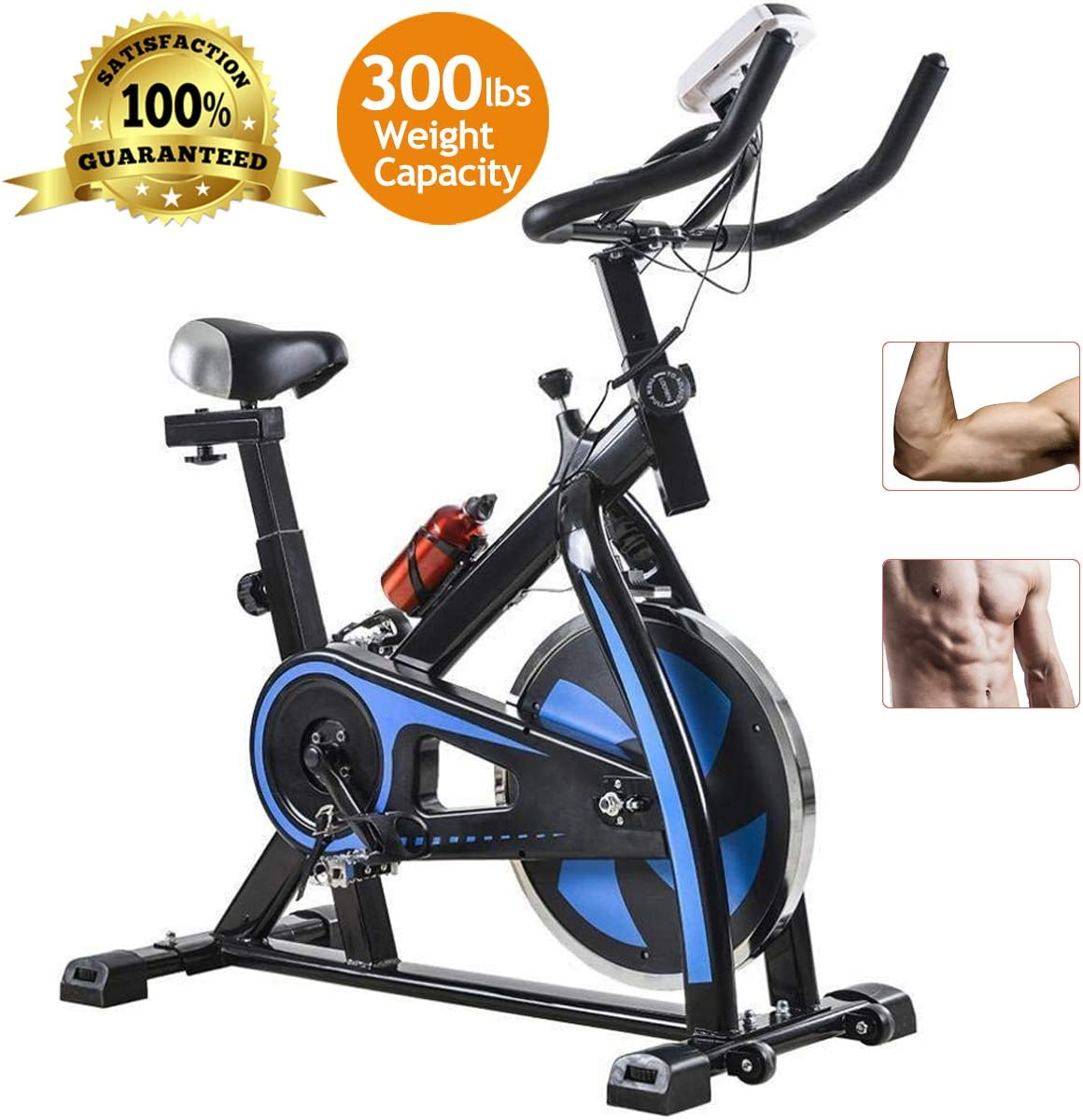 Exercise Bike Cycling Bike Indoor Cycling Spin Bike Bicycle Cardio Fitness Cycle Trainer Heart Pulse w LED Display Exercise Bikes Stationary Indoor