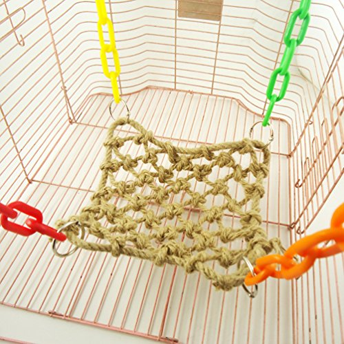 Sweetdog Parrot Bird Hanging Rope Climbing Net Swing Ladd...