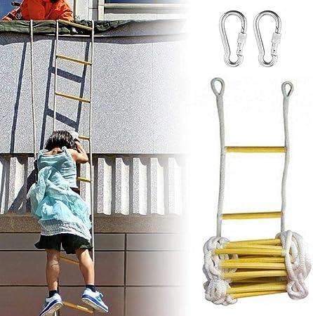 Escalera De Cuerda Escaleras De Emergencia De Resina De Escalera Para Niños Adultos Escalera De Entrenamiento Escalera De Cuerda Para Niños Con Peldaños De Madera Escape En Caso De Incendios,5M: Amazon.es: Hogar