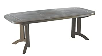 GROSFILLEX Vega Table, Taupe, 220 x 100 x 72 cm