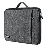 EWWE 360° Protective Laptop Sleeve Briefcase Handbag Case Cover for 15-15.6 Inch HP Dell Acer Asus Sony Lenovo Samsung Chromebook, Herringbone Woollen Spill & Shock Resistant with Retractable Handle